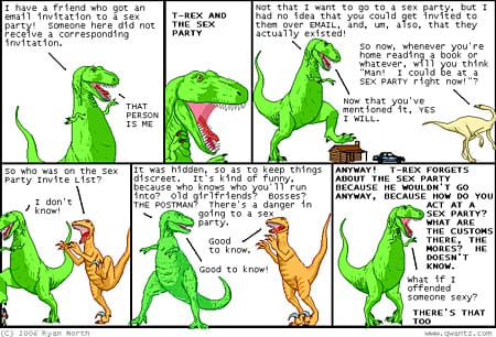 Dinosaur Comics: Sex Party