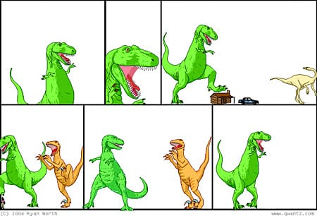 Dinosaur Comics Blank