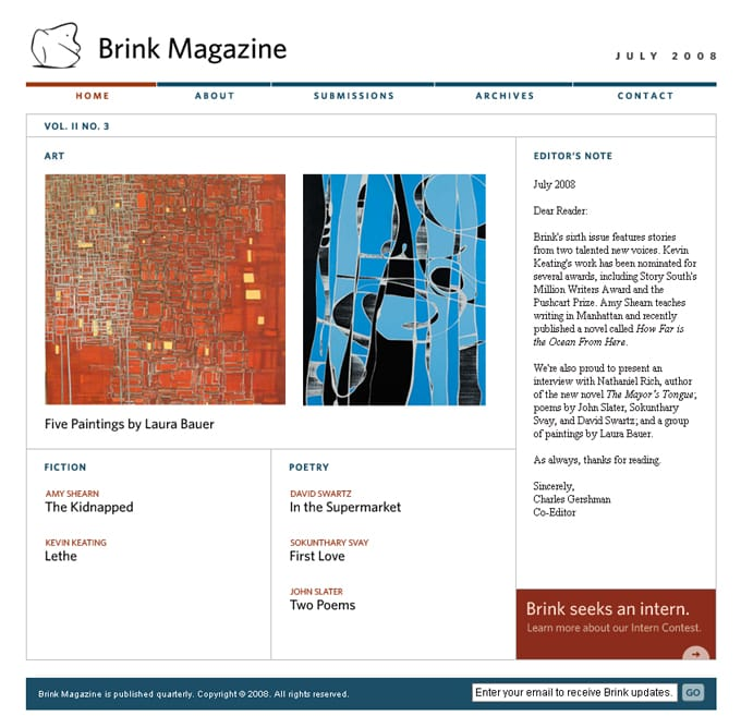 Brink Magazine July 2008
