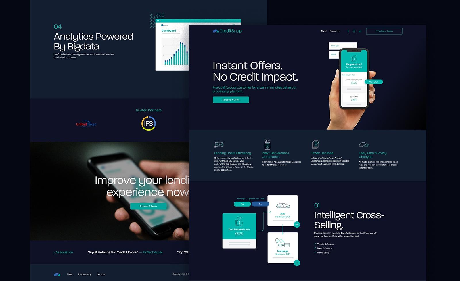 Overlap of CreditSnap designs