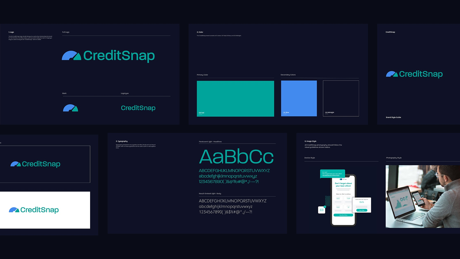 Brand style guide pages